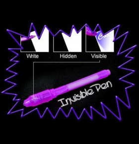 Marcador Invisível (com luz negra)