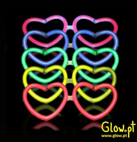 Óculos Glow Coração (Pack 6)
