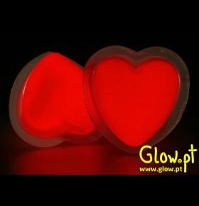 Glow Badges / Crachá Coração
