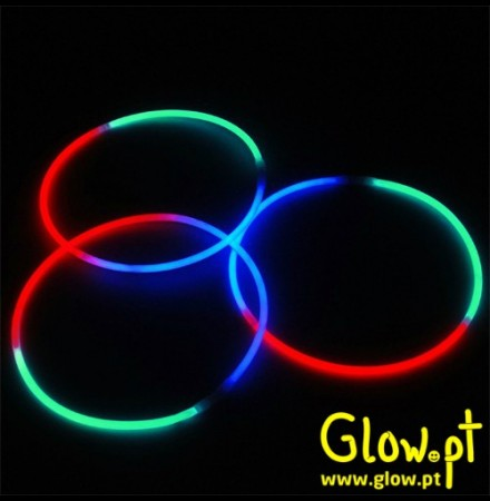 Colar Glow 3 Cores (Pack 50)