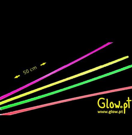 Palhinhas Fluorescentes 50cm (pack 100)