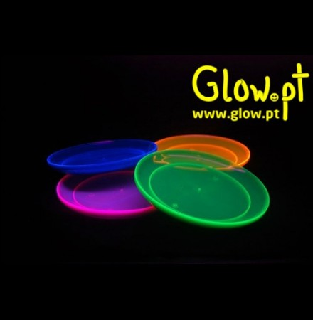 Pratos Fluorescente (pack 20)