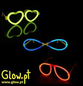 Óculos e Óculos Coração Glow (Pack 25 + 25)
