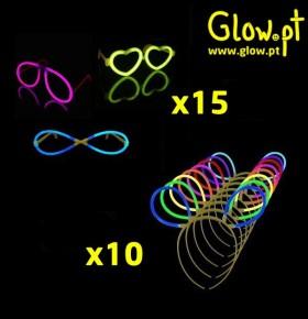 Óculos e Orelhas Glow (Pack 25 + 25)