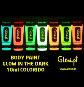 Body Paint Glow in the Dark Colorido (10ml)
