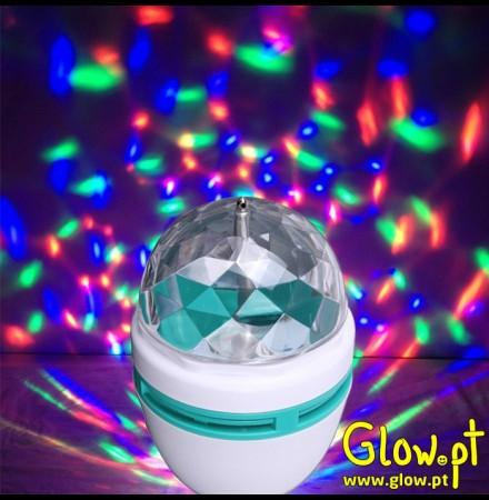 Projector LED Rotativo com Efeitos
