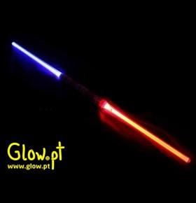 Espada LED Dupla Multicor (110cm)