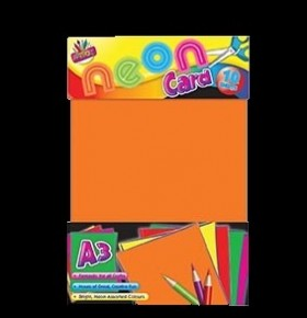 Cartolina Fluorescente A3 ( Pack 10 Folhas)