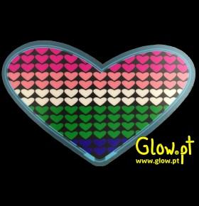 Placa LED Coração