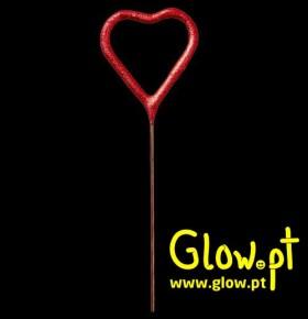 Vela Sparkler Coração Vermelho