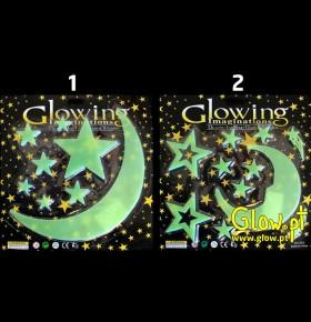 Estrelas e Lua Glow