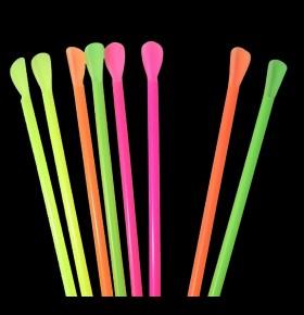 Palhinhas Colheres Fluorescentes Pack 150