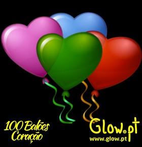 Balões Coração (pack 100)