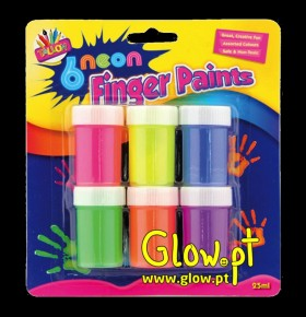 Finger Paints Neon ( Pack 6 )
