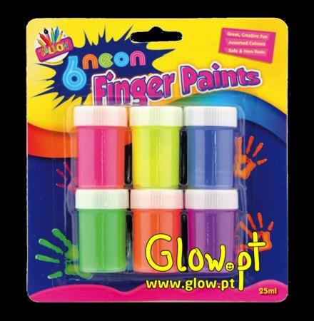 Finger Paints Neon ( Pack 6 )