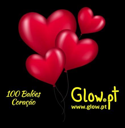 Balões Coração Vermelhos ( Pack 100 )