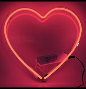 Coração Neon Acrílico
