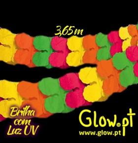 Grinalda Papel Neon ( 3,65m )