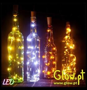 Grinalda LED para Garrafas C/ Tampa