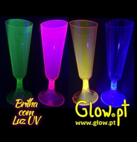 Copos Champanhe Neon ( Pack 12 )