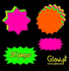 Estrelas Fluorescentes ( Pack 50 )