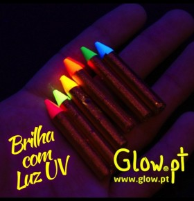 Lápis (Pack 6) UV Body Paint