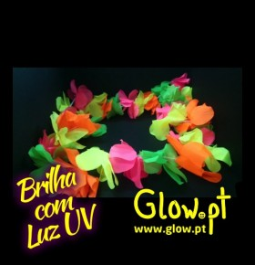 Colar Hawaii Fluorescente Multicor