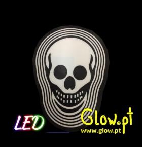 Placa LED Caveira