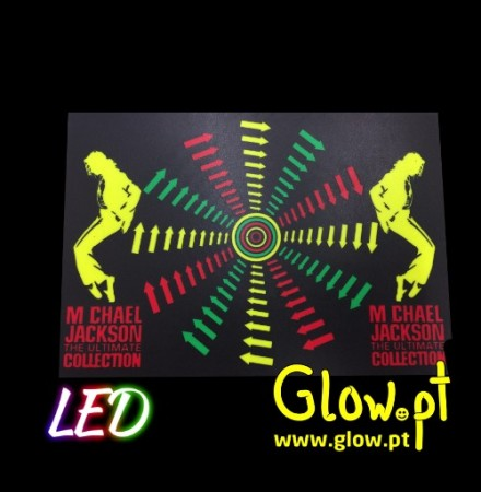 Placa LED Micheal Jackson