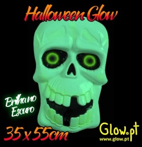 Caveira 3D Glow in the Dark