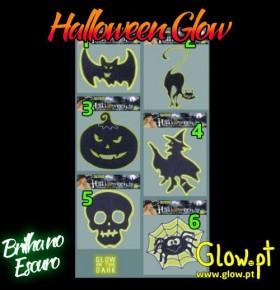 Stickers Halloween Glow para Vidro