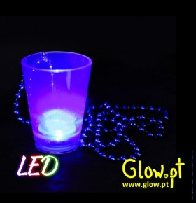 Copo de Shot Rosa com LED's