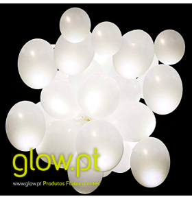 Balões LED (15 unid.) Luz Fixa