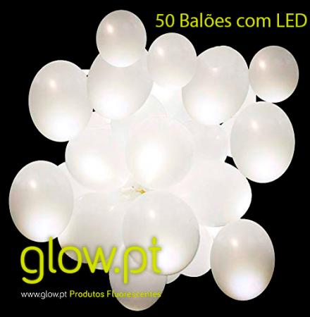 Balões LED (50 unid.) Luz FIxa