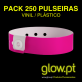 Pack 250 Pulseiras Invioláveis Vinil