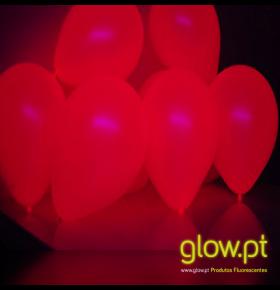 Balões Fluorescentes Vermelho 20cm ( Pack 10 )